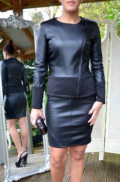 Jus d'orange Paris Dress £75, Jus d'orange Paris Jacket £100, Martine Wester Bracelet £16, Black Bag £28