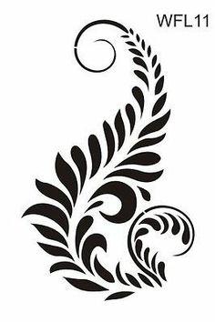 Floral wall stencil reusable 17 various designs pattern damask border series | eBay