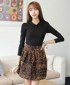 Amma Leopard Print Skirt