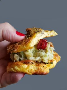 Healthy Chicken Salad that is not very Mayonnaisey Best served on a #CloudBread of course! - The Big Apple Mama