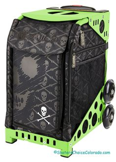 ZUCA Bag Ollie Insert /& Black Frame w//Non-Flashing Wheels