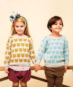 Neulo kissa puseroon – vinkeän suloinen kissapusero lapselle! - Kotiliesi.fi Knit Crochet, Projects To Try, Knitting, Crocheting, Balls, Patterns, Style, Fashion, Tejidos