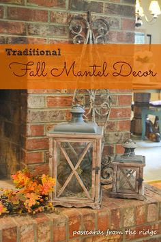 Great Fall Mantel Decor Ideas.