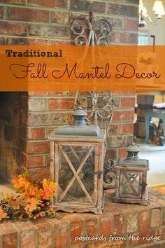 Great Fall Mantel Decor Ideas.