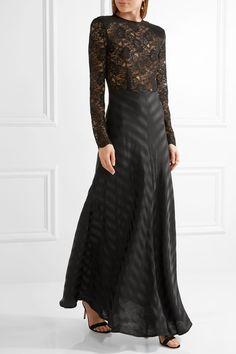 £335 - Net-a-porter - Black lace and silk-jacquard