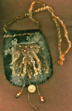 felted amulet pouches - Google Search