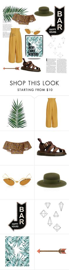 """""""#Style19"""" by jokerblingbling ❤ liked on Polyvore featuring Nika, Sonia Rykiel, Philosophy di Lorenzo Serafini, Dr. Martens, Maison Michel and Umbra"""
