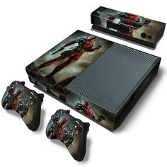 Now available at our store!  http://www.hellodefiance.com/products/standing-deadpool-skin-xbox-one-protector?utm_campaign=social_autopilot&utm_source=pin&utm_medium=pin