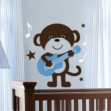 Music Monkey Wall Decal $39.00 www.decalmywall.com