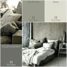 Pure & Original Paint Samples in Cloudy Concrete, Silver Like and Bone