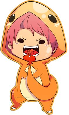 So Cute...Natsu crossed with Ma-kun from Chibi Devi