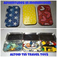 travel toy altoid tins