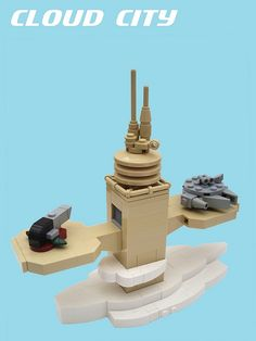 Cloud City de Empire Strikes Back en escala micro de LEGO. Brutal!