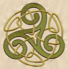 Craft a symbol of threefold unity with this ancient Celtic design. Celtic Decor, Celtic Art, Urban Threads, Celtic Patterns, Celtic Designs, Embroidery Patterns, Machine Embroidery, Hand Embroidery, Arabesque