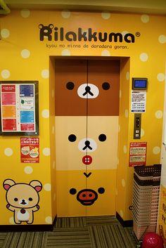 Awesome Rilakkuma Lift. #kawaii #cute #lift #rilakkuma