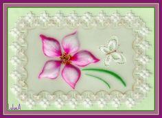 Pergamano Etiquette Fleur et Papillon ajouré