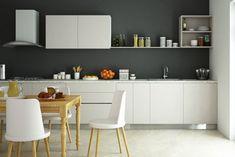 12 Grey Kitchens That Are Drop Dead Gorgeous L Shaped Kitchen Designs, Grey Kitchen Designs, Kitchen Colour Schemes, Kitchen Colors, Kitchen Ideas, Kitchen Layout, Kitchen Trends, Kitchen Inspiration, Color Schemes