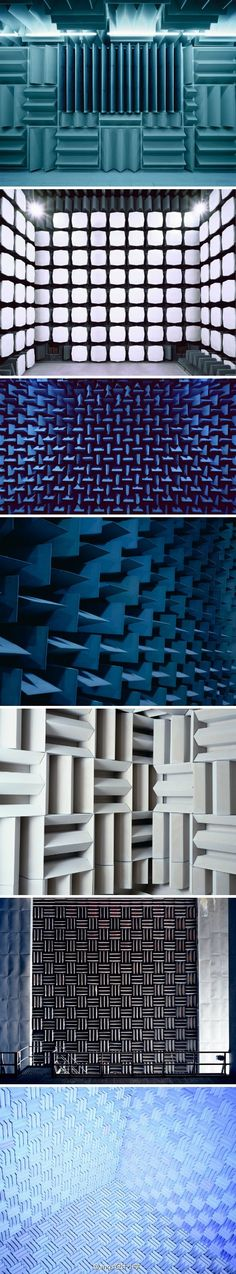 Acoustical products including anechoic wedge foam, great for testing rooms! http://www.acousticalsolutions.com/70~anechoic-wedge-acoustical-foam