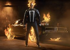 Marvel Entertainment has released the first official look at Ghost Rider in Marvel's Agents of SHIELD. Gabriel Luna will play the spirit of vengeance. Shield Season 4, Agents Of Shield Seasons, Marvels Agents Of Shield, Marvel Comic Character, Marvel Characters, Marvel Heroes, Marvel Dc, Netflix Marvel, Mundo Marvel
