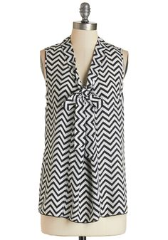 Best Workday Ever Top in Chevron, #ModCloth