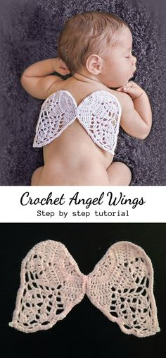 Ideas Crochet Kids Clothes Angel Wings For 2019 Baby Knitting Patterns, Baby Clothes Patterns, Crochet Baby Clothes, Newborn Crochet, Baby Patterns, Crochet Patterns, Crochet Dresses, Crochet Angel Pattern, Crochet Angels