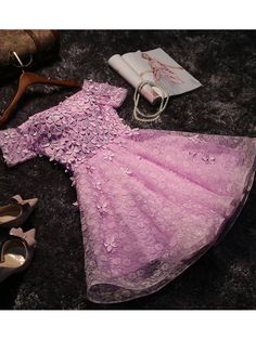 A-line Off-the-shoulder Short Mini Tulle Short Prom Dress Homecoming Dresses SKY327 on Luulla