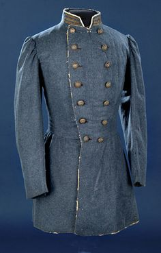 Confederate Officer's Frock Coat. This is the type of jacket that would have been worn by a Confederate medical officer.