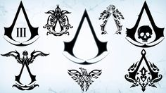 all assassin's creed logos   Assassin's Creed Logo brushes (High-Res). by DeeMBR