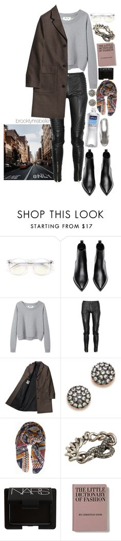 """""""Untitled #993"""" by brooklynrebelle ❤ liked on Polyvore featuring Wildfox, Acne Studios, Preen, Katie Rowland, Pieces, Elizabeth and James, Lanvin and NARS Cosmetics"""