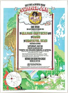 Watkins Glen Summer Jam Grateful Dead Allman Brothers and The Band Summer of 1973