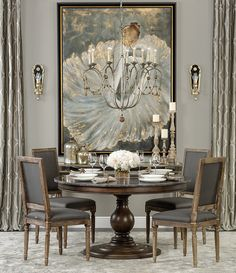 Setting The Barre - Karlin Dining Table http://www.highfashionhome.com/room-ideas/dining-room/setting-the-barre.html