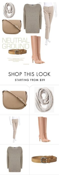 """Neutral"" by indyvel ❤ liked on Polyvore featuring CÉLINE, Chico's, Fabrizio Gianni, Gianvito Rossi, Mint Velvet, Liebeskind, neutrals and contestentry"