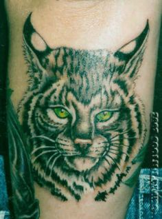 Image detail for -Lynx wild cat face tattoo