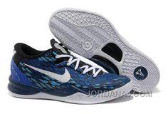 Mens NK Kobe 8 Elite Low Basketball Shoes Gray Blue