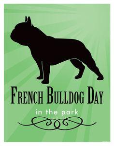 11x14 vintage inspired French BullDog Art Print by DoolittleDesign, $12.50