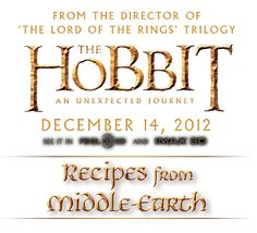 Recipes from Middle Earth  For the next time I throw a Hobbit Day party. Bilbo & Frodo share a birthday on September 22.