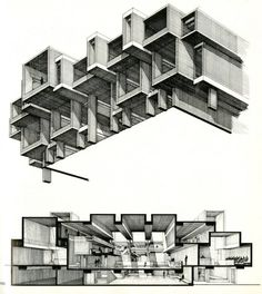 """poetryconcrete: """"Orange County Government Center, by Paul Rudolph, 1967, in New York, US. """""""