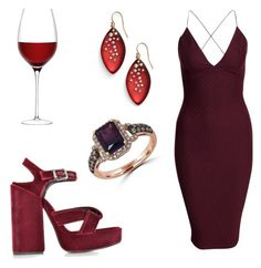 """wine by night"" by jjbear on Polyvore featuring LSA International, Jil Sander, AX Paris, Alexis Bittar, Effy Jewelry, women's clothing, women, female, woman and misses"