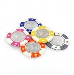 De luxe Metal Coin poker chips hebben een zeer chique uitstraling. De metalen inlay met poker opdruk zorgt er voor dat deze chips de aandacht zeker op zich weten te vestigen.
