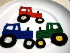Crochet Tractor Applique PDF Pattern - Crochet Applique Patterns. $3.50 USD, via Etsy.