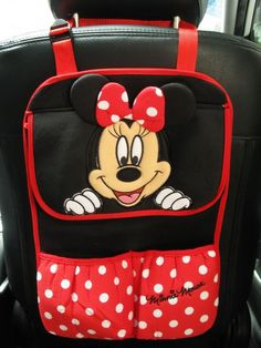 Minnie Mouse Car Accessory #Red: Hanging Storage Pocket Organizer