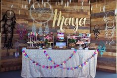 Looking for a party you'll swoon over? This Boho Teepee Birthday Party will do the trick! Vivid colors, arrow cupcakes, and dream catcher decor and Happy Birthday, First Birthday Parties, Girl Birthday, First Birthdays, Birthday Ideas, Bonfire Birthday, 16th Birthday, Coachella Birthday, Indian Party