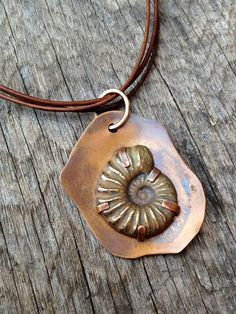 Fossils are a huge source of inspiration for me. To think of nature leaving behind a footprint of the long distant past amazes me. Ammonites were