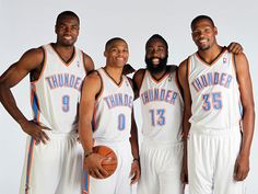 Fantasy All-Stars? Kevin Durant, Russell Westbrook, Serge Ibaka, James Harden (Getty Images)