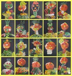 Art lessons – Schule Am Lindenberg – Ideas for Art Education – # for # Ideas Education - New Deko Sites Art Education Lessons, Art Lessons, Halloween Illustration, High School Art, Paper Crafts For Kids, Fruit Art, Lessons For Kids, Halloween Art, Art Plastique