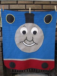 Crochet Thomas the Train blanket... sadly no link but if i get good enough at this im sure I could figure this out for E!