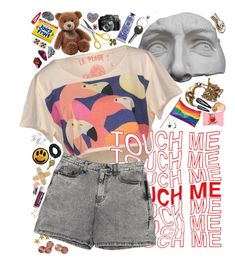 """touch me"" by bzzbzz ❤ liked on Polyvore featuring Romanelli, Tuleste, Bastille, Forever 21, Yves Saint Laurent, Maison Margiela, Gund, Chapstick, L'Occitane and CB2"