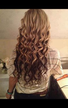 LOVE this hair, blonde and brown two-tone! I wonder how much it would cost to have this done in a salon....
