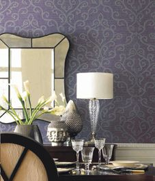 Love that wall paper. Color and print