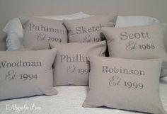 Anniversary Pillow Slipcover Tutorial | 11 Magnolia Lane